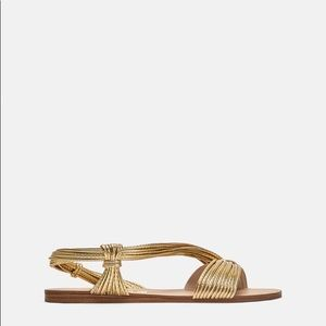 Gold Zara sandals size 41 worn once